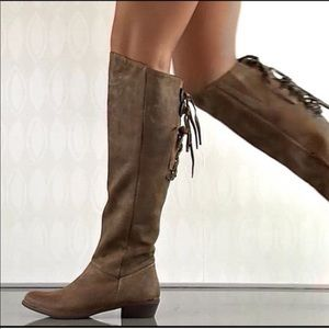 Naughty Monkey Bullet Leather Riding Boots